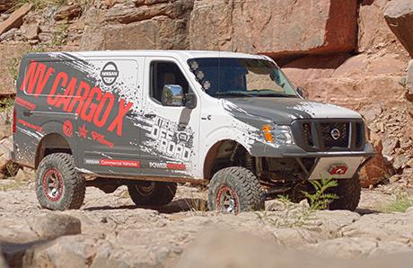 Ниссан построил экстремальный фургон для бездорожья